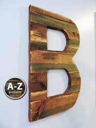 large wood letters rustic letter cutout custom wooden wall wooden initial wall decor