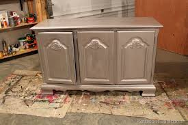 silver painted furniture. Martha Stewart-metallic-paint-tutorial-diy Silver Painted Furniture