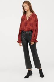 h m ankle length leather pants