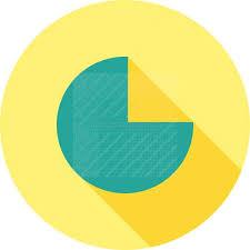 Pie Chart Flat Shadowed Icon