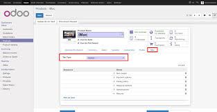 type of tab custom product tabs odoo apps