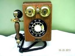 vintage wall phone decor antique phones north electric telephone oak decorative