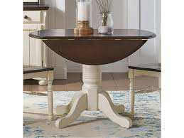 Aamerica British Isles Co Round Dropleaf Table With Pedestal Base
