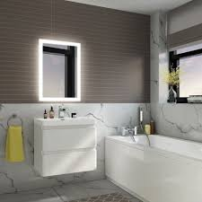 700mmx500mm Orion Illuminated LED Bathroom Mirror soak