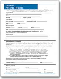 Absence Form Personnelconcepts Request For Leave Of Absence Forms