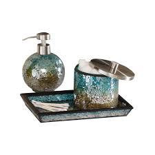 mosaic bathroom accessories sets aqua sparkle mosaic