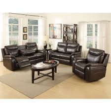brown chairs for living room. leather-air courtney 3 piece reclining living room set brown chairs for living room