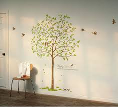 on tree wall art decals vinyl sticker with birds tree vinyl wall decals