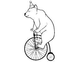 Disegno Di Orso In Bicicletta Da Colorare Acolorecom