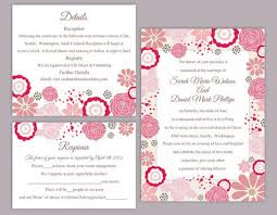 invitation download template diy wedding invitation template set editable word file instant