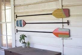 coastal wood wall art elegant set 3 wooden boat paddles wall art decor beach coastal