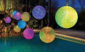 creative lighting ideas. Solar Outdoor Lighting-Color-Changing Patio Lights Creative Lighting Ideas