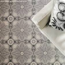 Small Picture How to Paint a Hardwood Floor With Tile Stencils Hometalk