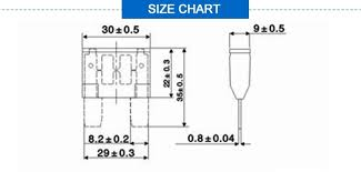Automotive Fuse Types Chart High Quality Maxi 1a 40a 32v Car Blade Auto Automotive Fuse Types For Fuse Holder Buy Automotive Fuse Types Maxi Fuse Blade Fuse Product On