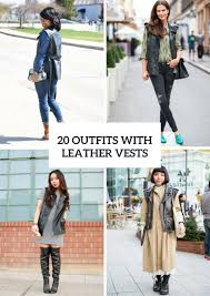 20 leather vest outfits for las