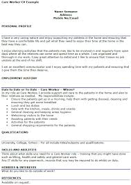 Cv For Care Assistant Cv Examples Uk Care Assistant Evoo Tk