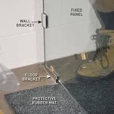 fitting a shower door