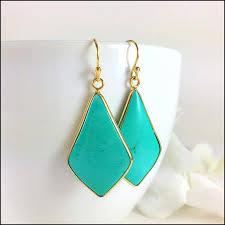gold turquoise gemstone pendant chandelier earrings by blingniks on ideas of dangle chandelier earrings