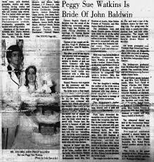 Peggy Watkins and John Baldwin wedding - Newspapers.com