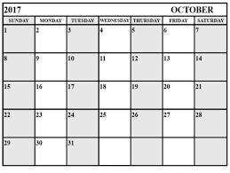 free calendar october 2017 print printable calendar 2017 with