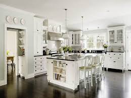 White Kitchens With White Granite Countertops Small Black White Kitchen With Granite Countertop And Wooden Floor