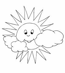 50+ Tranh tô màu ông mặt trời và đám mây dễ thương cho các bé