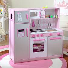 Kid Craft Retro Kitchen Kidkraft 2 Piece Pink Retro Kitchen And Refrigerator 53160