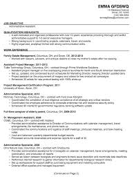 Assistance In Writing A Resumes Resume Template Sample Resumes For Administrative Positions