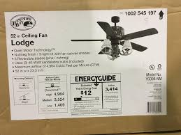 details about hampton bay lodge 52in indoor nutmeg ceiling fan with light kit new other read