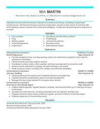 Administrative Assistant Administrative Assistant Resume Example On