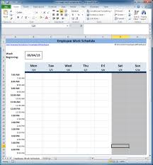work scheduler excel free employee and shift schedule templates