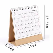 2018 desk top flip calendar month to view stand up office home table planner