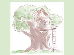 how to draw a treehouse step by step. Plain Draw To How Draw A Treehouse Step By W