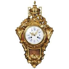 antique french gilt bronze wall clock
