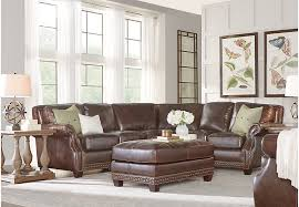 3 piece leather sectional. Simple Leather Frankford Chocolate 3 Pc Leather Sectional  Living Rooms Brown For Piece L