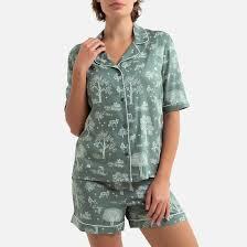 <b>Пижама</b> с <b>шортами</b>, с рисунком хаки/ белый <b>La Redoute</b> Collections