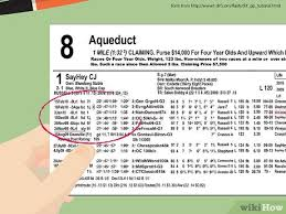 Drf Com Pdf Charts How To Read A Racing Form With Pictures Wikihow