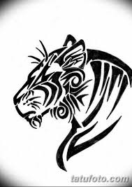 черно белый эскиз тату рисункок тигр 11032019 082 Tattoo Sketch