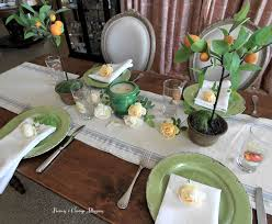Table Setting In French Peonies And Orange Blossoms Summer French Table Setting