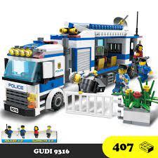 Đồ chơi lắp ráp Xe cảnh sát bắt trộm - GUDI 9316 Lego Police City - 406  mảnh ghép giá cạnh tranh