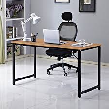 home office desktop 1. Dland Home Office Computer Desk Table JJT-140, Composite Wood Board, Teak, Desktop 1 D