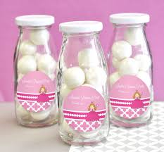 princess party personalized milk bottles