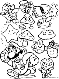 Super Mario Bros Kleurplaat Disney 색칠 공부 자료 색칠공부 책