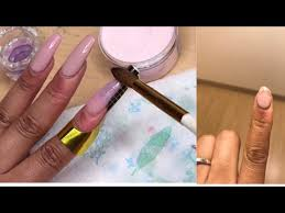 how to repair a broken acrylic nail at home without removing it self taught korryn j
