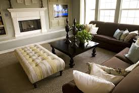 living rooms with brown furniture. contemporary and spacious living room with two dark brown sofas square coffee table rooms furniture o