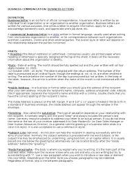 Business Communication Business Letters Def Kinds Types Format