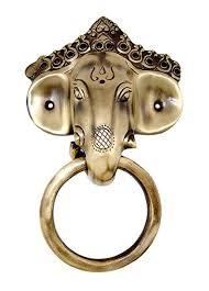 craftvatika lord ganesha face ring door knocker collectibles br ganesha sculptured door handle