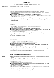 Download Client Relations Associate Resume Sample as Image file
