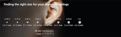 Earring Carat Size Chart Igi Certified 14k White Gold Princess Diamond Stud Earrings 1 2 Cttw Hi Color I1 Clarity