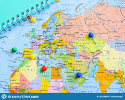 Top View Of Planning A Trip Or Adventure Travel Planning